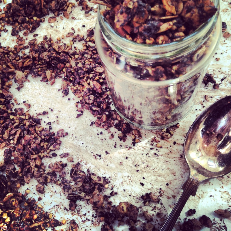 Chocolate Buckwheat Granola. Recipe on www.eatwelltravelfar.weebly.com